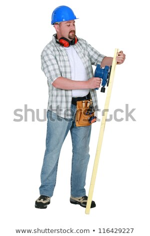Landscape picture of carpenter sanding Stock photo © photography33