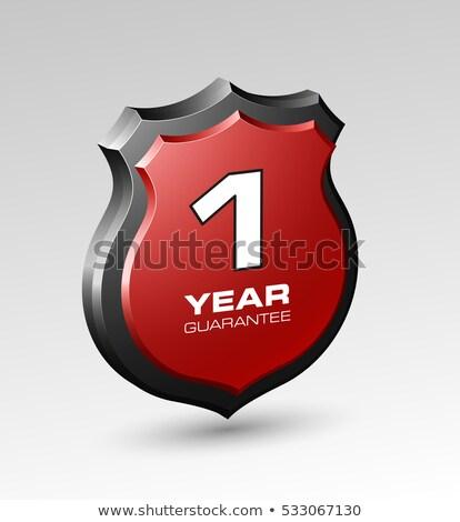 Garantizar etiqueta establecer marco segura venta Foto stock © nicky2342