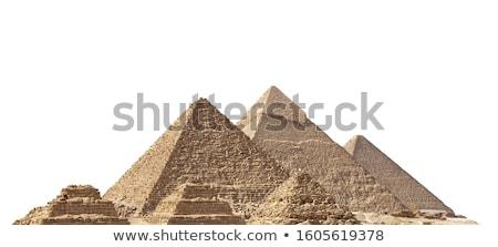 Stockfoto: Piramides · zonnige · woestijn · landschap · rond