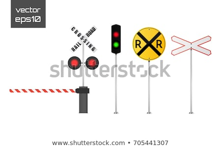 レール 道路 列車 トラフィック ドライブ 警告 ストックフォト © ajlber