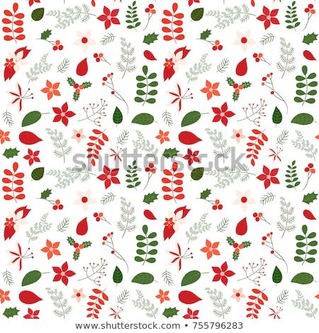 Pink And Green Christmas Wrapping Stockfoto © Pravokrugulnik