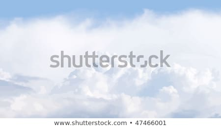 Vector illustration of cloudscape. Panoramic view. No gradients  Stock photo © tuulijumala