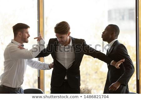 üzletemberek · érv · elégedetlen · fiatal · munkahely · iroda - stock fotó © photography33