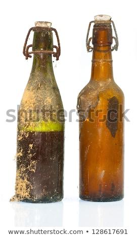 Starych butelek winnicy piwnica strony szkła Zdjęcia stock © kornienko