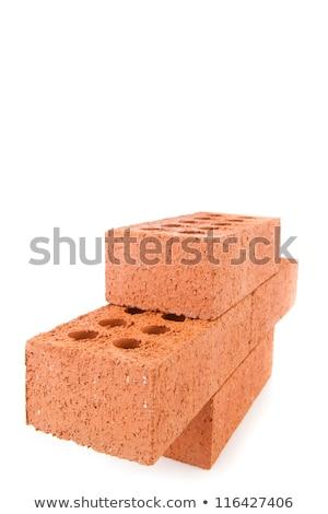 Vier klei bakstenen kant muur Stockfoto © wavebreak_media