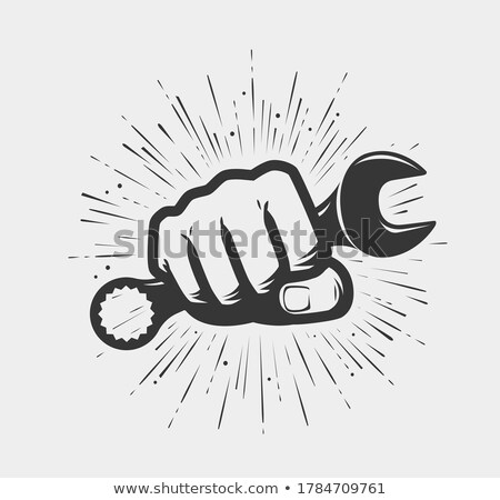 Hand with Spanner Stock photo © ajt