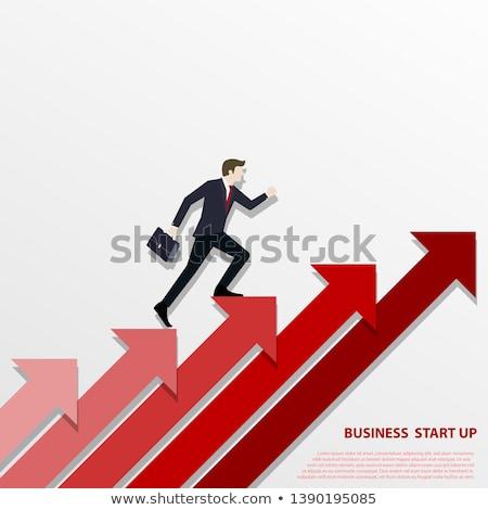 Hombre subir crecimiento flecha negocios resumen Foto stock © 4designersart