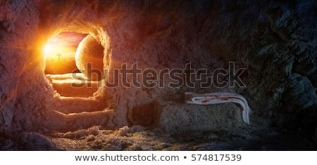 Jesus christ gravé illustration image livre Photo stock © Snapshot