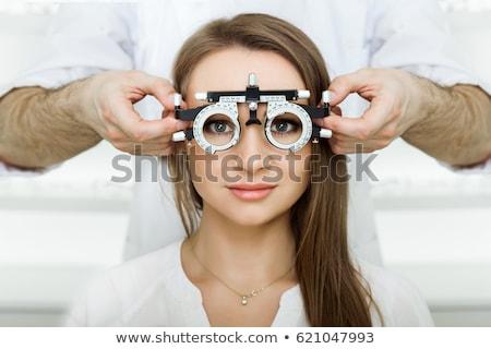 Keret szem tesztelés szemészet kép optikai Stock fotó © ifeelstock