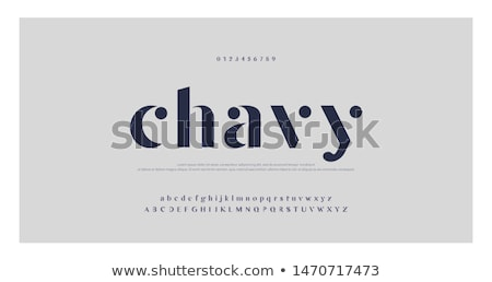 Stock photo: Icon alphabet
