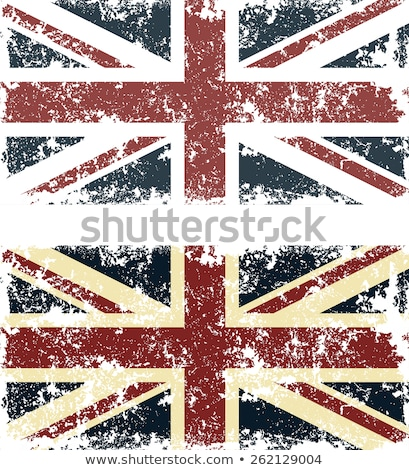 Bayrak yatay çerçeve grunge doku Retro Stok fotoğraf © tintin75