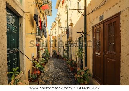 Distrito Lisboa edifício cidade rua casa Foto stock © dinozzaver