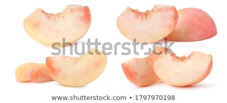 pêssegos · árvore · monte · maduro · fruto - foto stock © homydesign