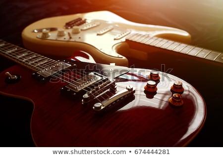 Macro electric guitar strings and pickups Stock photo © sumners