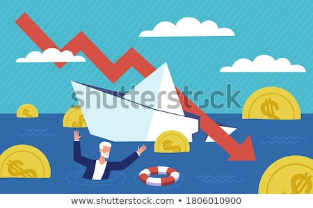 arrow crash - bankruptcy, financial collapse, depression, failur Stock photo © alexmillos