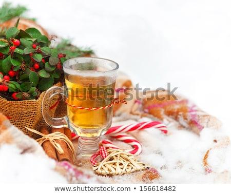 Christmas still life nestling in fresh snow Stock photo © dashapetrenko