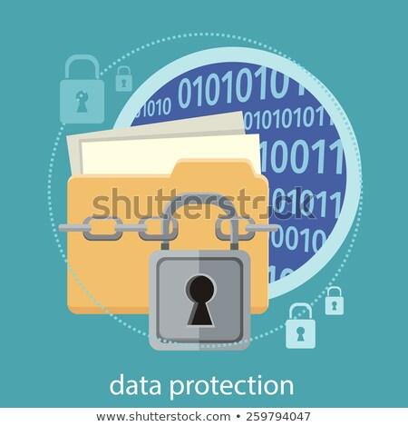 Confidencial computador arquivos ilustração e-mail carta Foto stock © alexmillos