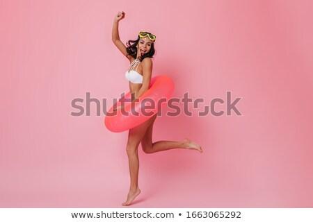 seksueel · vrouw · roze · bikini - stockfoto © stryjek