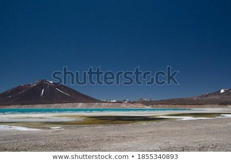 Pond and Mountain Under Deep Blue Skies Stock photo © pxhidalgo