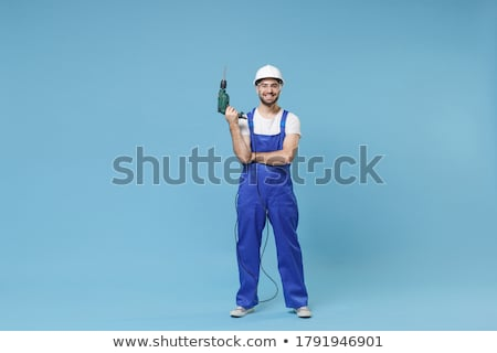 Builder with drill. Stock photo © Kirill_M