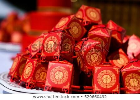 Çin düğün sunmak düğün töreni yaşlı altın Stok fotoğraf © szefei