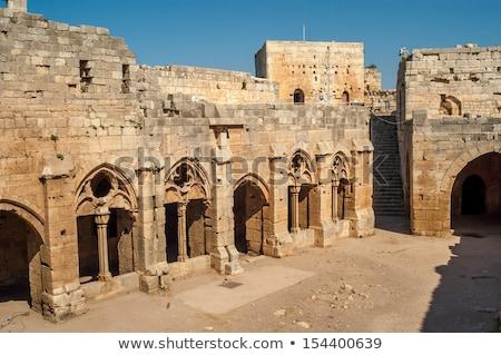 Syrië muur landschap kasteel steen vintage Stockfoto © meinzahn