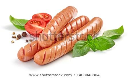 Wenen · worstjes · brood · salade · witte · keuken - stockfoto © juniart