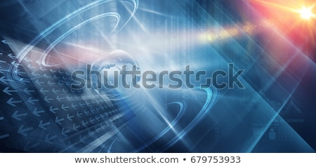 Stock photo: Media News on Light Blue in Flat Design.