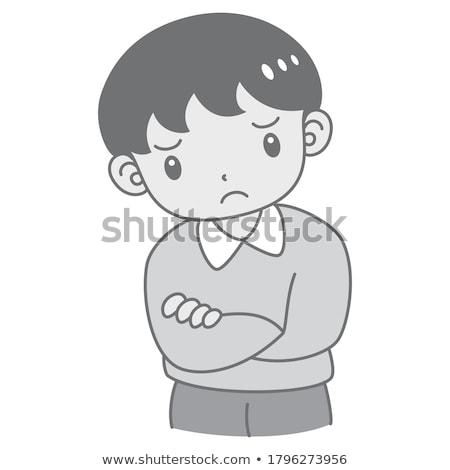 retrato · cute · nino · pubertad · sonrisa - foto stock © meinzahn