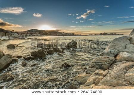 закат Корсика розовый регион пород морем Сток-фото © Joningall