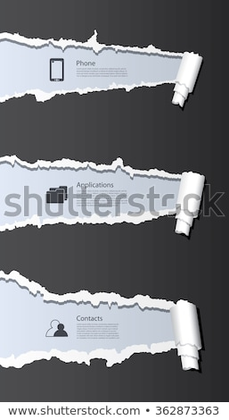 Stockfoto: Research Torn Paper Concept