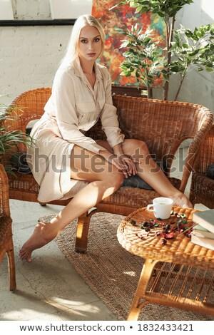 dourado · senhora · saco · branco · moda · beleza - foto stock © nejron