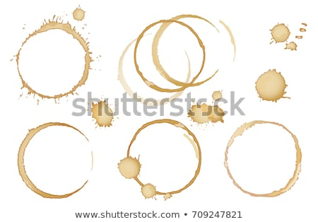 Cup Of Coffee With Stains Set Stock photo © adamson