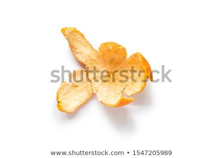 hámozott · mandarin · izolált · fehér · gyümölcs · bőr - stock fotó © natika