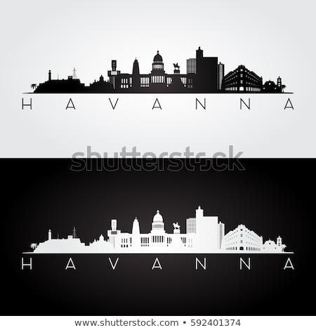 ハバナ スカイライン シルエット 市 キューバ ストックフォト © blamb