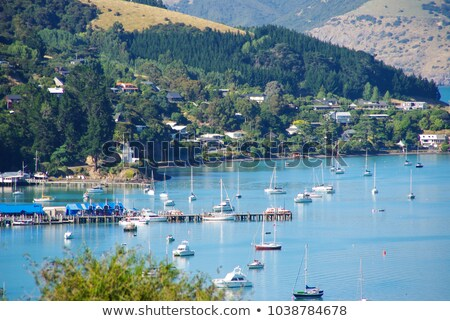 Porto porto Nova Zelândia cidade pier distância Foto stock © backyardproductions