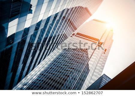 Edifícios de escritórios moderno vidro silhuetas arranha-céus céu Foto stock © EwaStudio
