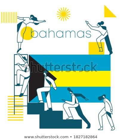 Zászló Bahamák témák ötlet terv fekete Stock fotó © kiddaikiddee