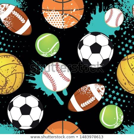 sketch american football ball vector seamless pattern stock photo © kali