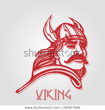 Comic Viking Helmet Stock photo © benchart
