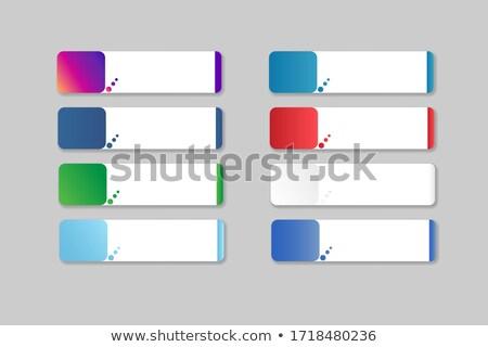 квадратный · Кнопки · Стрелки · белый · фон · знак - Сток-фото © cteconsulting