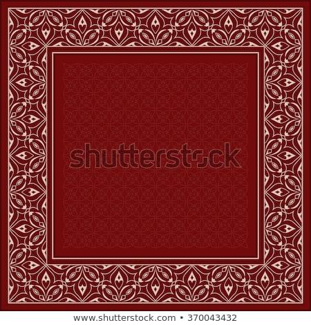golden ornament vector frame with sample text stock photo © leonido