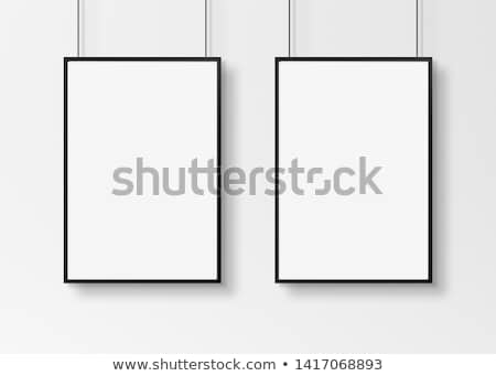 Two blank vertical paintings poster in black frame Stock photo © stevanovicigor