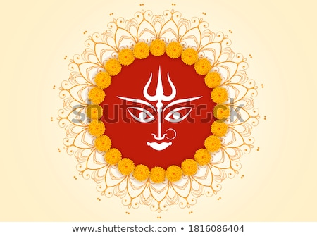 Stock photo: abstract isolated durga background