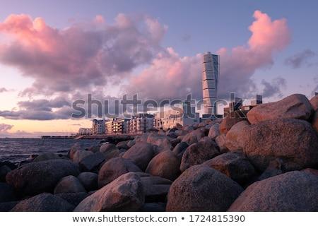 Törzs víz felhőkarcoló Stock fotó © gemenacom