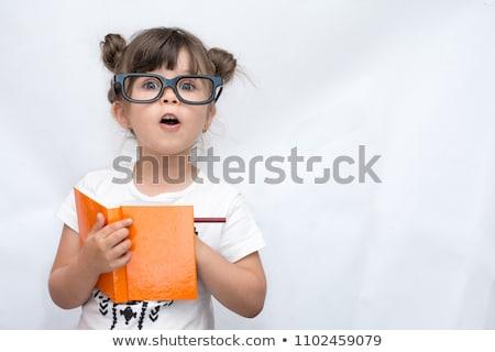 Сток-фото: мало · ребенка · Smart · мера · глазах