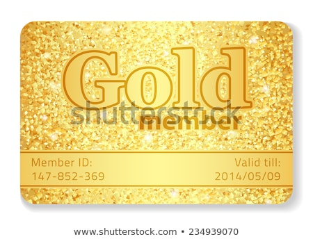 Gold member VIP card composed from glitters Stock photo © liliwhite