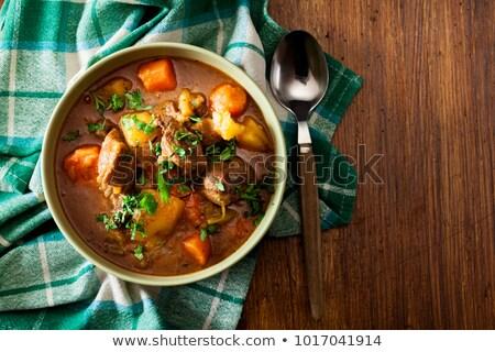 hearty goulash soup stock photo © brebca