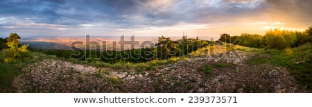 Stock photo: City of Nitra with Path to Transmitter