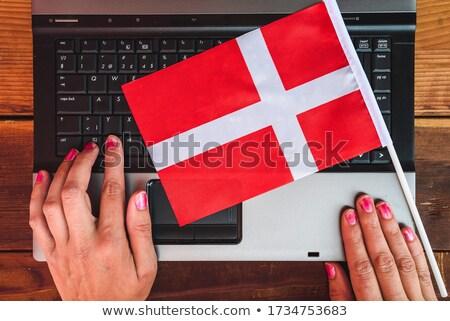 рук рабочих ноутбука Дания экране Сток-фото © michaklootwijk